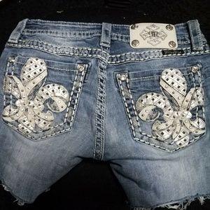Miss Me Cut off jean Shorts 27 skinny
